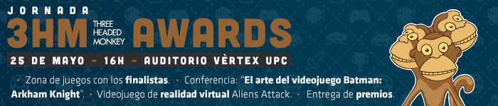 Jornada de videojuegos Three Headed Monkey Awards (3HMA)    ¡Apúntate!
