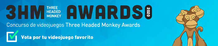 Vota por tu videojuego favorito en el concurso Three Headed Monkey Awards 2020.    ¡Votaciones abiertas hasta el 16 de abril!